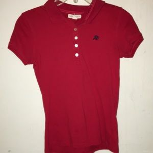 Red Aeropostale's polo shirt